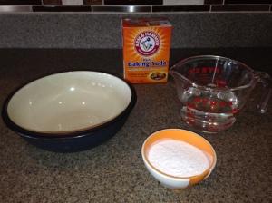 Water + Baking Soda = Paste